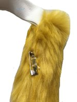 Wholesale Angelaicos Handmade Wire Inside Restyled Faux Fur Long Hair Cat Tails