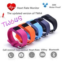 Wholesale TW64S TW64 Fitbit Flex Smartband Charge HR Activity Wristband Wireless Heart Rate Monitor Pulse OLED Display Sport Smart Band Bracelet
