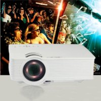 Wholesale Portable projector D smart LED video projector for home theater USB HDMI AV proyector mini projector for home cinema