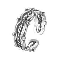 authentic vintage jewelry - Authentic Sterling Silver Vintage Twisted Ring Engagement Ring Compatible European Original Style Fashion Wemen Girls Jewelry