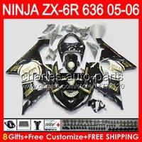 kawasaki zx6r fairings - Lucky Strike gifts Body For KAWASAKI NINJA ZX6R ZX636 CC NO113 ZX R ZX600 ZX ZX ZX R Fairing top black