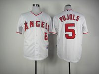 albert quality - Los Angeles Angels Cool Base Mens Jerseys Albert Pujols White Baseball Jersey Accept Mixed Orders Best Quality Size M XXXL