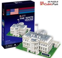animal architecture - Supernova Sales Birthday gifts educational puzzle toys D paper model World Architecture series Paper craft The White House