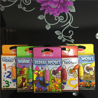 Wholesale United States Reusable Pen Aqua Coloring Book Doodle Arts Drawing Writing On The Go Water Wow Bundle Paint Board Toys for Children Kids DHL