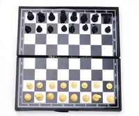 Wholesale 600pcs Folding Champions Chess Set in Travel Magnetic Chess and Checkers Set kid s gift