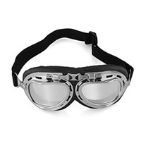 aviator goggles motorcycle - Vintage Style Aviator Motorcycle Goggles Helmet Glasses Plating Silver Lenses