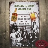 aluminum reason - Reasons to Drink Funny Vintage Metal Sign Retro Man Cave Retro Tin Plaque