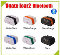 Wholesale 2015 New Arrival Bluetooth iCar OBDII ELM327 iCar2 vgate OBD diagnostic interface for IOS Phone Pad Android Phone
