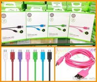Wholesale For G G G Date Sync USB Cable M FT High Speed Charger For Samsung S7 S6 S4 Note with Retail Package High Qualtiy