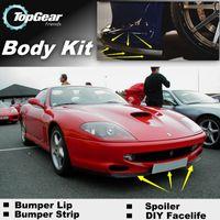 Wholesale Bumper Lip Lips For Ferrari Front Skirt Deflector Spoiler For Car Tuning The Stig Recommend Body Kit Strip