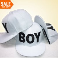 ball hats for sale - Simple style for white hat with black BOY Letters men and women BOY Snapback caps cool baseball caps hot sale