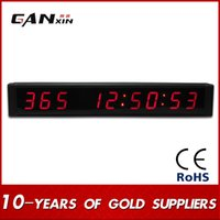 anniversary clocks - GANXIN Red Indoor Electric LED Countdown Clock Countdown Up Day Until Special Event Time Remaining Anniversary Celebration