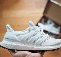Wholesale Originals Ultra Boost White Men s Sports Running Shoes Ultras Boost White and Black Factory outlets