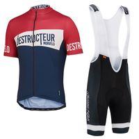 Short apparel bicycle man - New Arrival Morvelo Destructeur Summer Cycling Jerseys Men Short Sleeve Shirts Gel Padded Pants Bicycle Apparel
