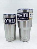 Wholesale Fast Ship Stainless Steel20 oz Yeti Cool Cupser YETI Rambler Tumbler Cup Vehicle Beer Mug Double Wall Bilayer Vacuum Insulated ml
