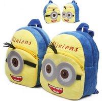 bagpacks for boys - 30PCS HHA99 Despicable Me Minions Backpack Children Boy Girl School Bagpacks Kid Children Bags cartoon bag for kids