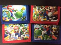 Wholesale New Super Mario Children s Cartoon Purses Wallets bags Party Gifts qbao12