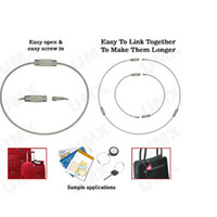 Wholesale High Quality EDC Metal Wire Circle Keychain Stainless Steel Rope Key Rings