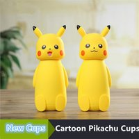 Wholesale new cute cartoon Pikachu cups Pikachu vacuum cup children s cartoon cup creative gift stainless steel cups