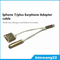 apple lighting adapter - New Phone Earphone in lighting Adapter for iPhone plus Data Cable Adapter Cords Cell Phone Accessories With DHL free shiping
