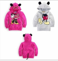 Wholesale Baby Girls Boys Kids Mickey Mouse Minnie Long Sleeve Sweatshirts D Tops Hoodies Coat Sportswear Costume Outfits Set Clothes Winter Warm
