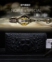 band chain wallet - Men s wallet in the first layer of leather crocodile zipper wallet Genuine leather handbags and Vintage Style luxuries band men bag fashion
