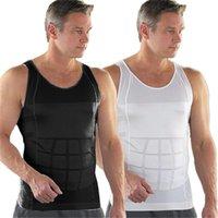 Wholesale Hot Men s Underwear Sauna Slimming Tummy Waist Body Shapers Wrap Belt Girdle Corset PE3