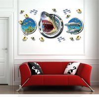 bedroom closets designs - Newest underwater world fish wall stick bedroom closet waterproof paper stickers DH012