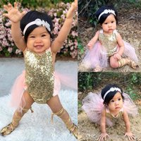 Wholesale Newborn Baby Girl Cothes Sequins Bodysuit Romper Backless Sunsuit Outfits M