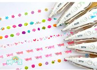 Wholesale 1pcs Stationery cartoon multicolour laciness decoration tape diy laciness Scrapbook stickers cartoon sticker Correction Tape