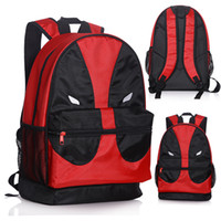 Unisex big backpacks for travel - Deadpool School Backapack Canvas Student School Bag travel backpack Big Size For Childrens Gifts Marvel Hot Movie