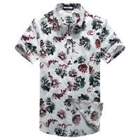 big and tall casual shirts - M XL XL XL big and tall mens clothing men s dress shirts summer print short sleeve casual shirts for men D0032