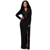 amazon collectibles - Women Sexy clothes Europe station new winter long sleeved V neck dress Collectibles Amazon wish hot selling models women s dress