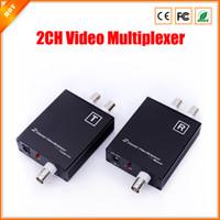 al por mayor multiplexores de vídeo-Nueva cámara de CCTV 2CH multiplexor de vídeo para el sistema de seguridad con la señal de distancia de transmisión de hasta 600 metros
