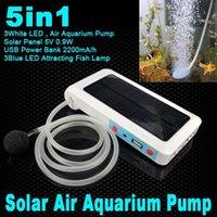 air solar panels - T Waterproof Solar Power Panel fish tank aquarium Oxygenator aeration Air Pump Oxygen Generator USB Power Bank for iphone