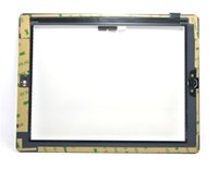 Wholesale Hot sale Touch Screen Glass Panel with Digitizer Buttons Adhesive for iPad Black and White