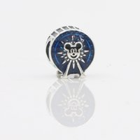 Wholesale Silver Charm Bead Fit Pandora Charms Bracelet Original Sterling Silver Beads Lovely Mouse With Drum Bead Charm Women Bijoux Fine Jewelry