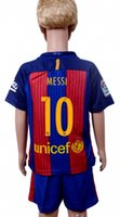 2017 Mejor calidad de Tailandia 16-17 muchacho del jersey de fútbol Barcelonahome MESSI # 10 # 9 SUÁREZ de NEYMAR JR # 11 # 7 ARDA PIQVE # 3 # 8 A.INIESTA 2017football traje
