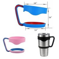 Wholesale Portable Plastic Hand handle Holder YETI Travling Mugs Pink And Blue Clolor Portable Hand Holder For YETI Rambler Tumbler oz Cups