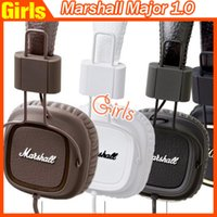 Cheap Marshall Major I 1.0 Headphones DJ Studio Headphones Deep Bass Noise Isolating headset Monitorring for iphone Samsung AAA quality
