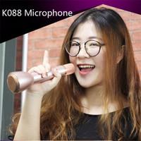 Wholesale Mini Karaoke Player Wireless Condenser Microphone with bluetooth K88 ktv player Home Personal Karaoke Handheld Amplifier Studio Stereo hifi