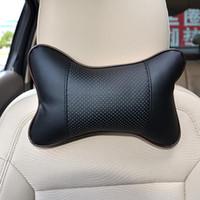 Nueva 2 / PC PU reposacabezas de cuero almohadilla del cuello del coche automático de asiento cubierta de la cabeza del resto del cuello del amortiguador de apoyo para la cabeza de la almohadilla