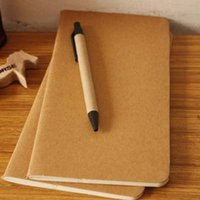 Wholesale New Kraft Paper Notebook Sketchbook Diary Drawing Painting Graffiti Soft Cover Notebook Office School Supplies Papelaria