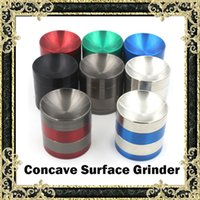 Wholesale Concave Grinders New Metal Grinders Pieces Tabacco Grinder With Concave Surface mm mm mm Made Of Zinc Alloy