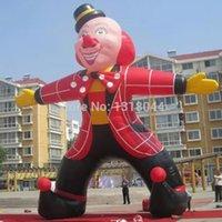 big amusement parks - 5M cute outdoor decors big inflatable clown for amusement park