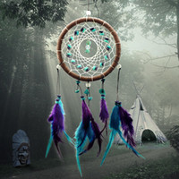 bedroom net - Antique Imitation Enchanted Forest Dreamcatcher Gift Handmade Dream Catcher Net With Feathers Wall Hanging Decoration Ornament