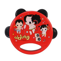 Wholesale New arrival toddler toys cm cute cartoon baby plastic ddung tambourine toys kawaii shaking drum kids musical instruments
