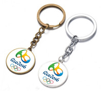 Wholesale 2016 Brazil Rio Olympic Games Logo Mascot Vinicius Tom Gift Key Chain Key Ring Key Holder New