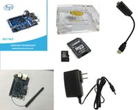 Wholesale Banana Pi M2 Kit include A31S Quad core Single Board Computer Transparent Acrylic Case SD Card db Antenna DC V Power Supply HDMI t