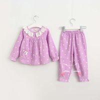 Wholesale Girls Pajamas Kids Sets Fashion Childrens Sleepwear Girl Dress Autumn Lace Pajamas For Kids Children Clothes Child Clothing Ciao C27333